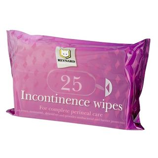 Incontinence Wipes (with Barrier Cream) 33cm x 22cm 25's - Carton (12)