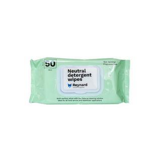 Neutral Detergent Wipes Flat Pack 50pk - Carton (12)