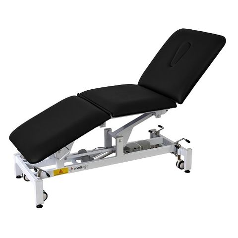 Medilogic Deluxe 3 Section Electric Hi Lo Treatment Couch Black