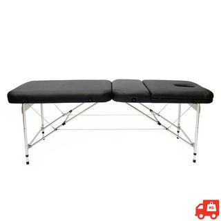 Portable 3 Section Massage Couch With Face Cutout - Navy Blue