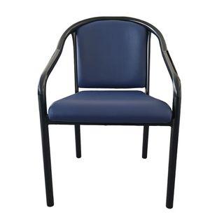 Sara Chair - Black Powdercoated Frame with Neptune Vinyl Upholstery