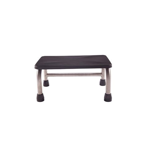 Single Metal Step - Rubber Non Slip Surface