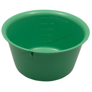 Autoclavable Plastic Bowl 140mm, 500ml Green - Each