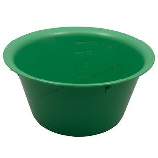 Autoclavable Plastic Bowl 185mm, 1000ml Green - each
