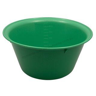 Autoclavable Plastic Bowl 240mm, 2500ml Green - each