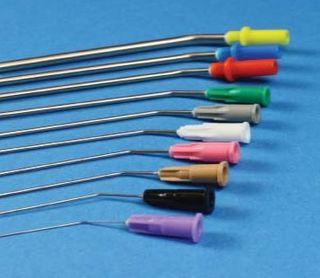 Mediplast Metal Suction Tips 17G 1.4x70mm White Luer Lock - Box (60)