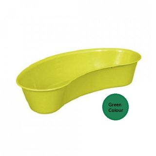 Kidney Dish Autoclavable 230mm Green 700ml - Set of 15