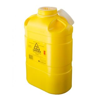 ASP Sharps Container 8L Resealable Top