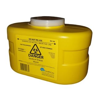 ASP Sharps Container 3L Resealable Top