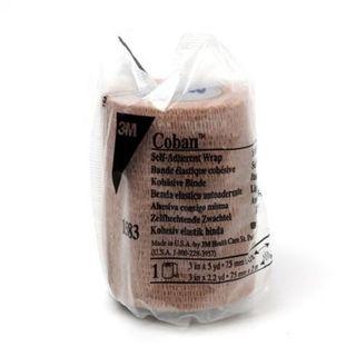 Coban Self-Adherant Cohesive Bandage Tan 10cm x 2m - Each