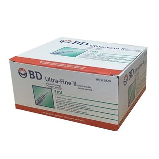 BD Insulin Syringe Ultra Fine 1ml 31g x 8mm - Box (100)