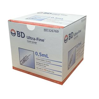 BD Insulin Syringe 0.5ml 29g x 13mm - Box (100)