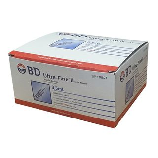BD Insulin Syringe 0.5ml 31G x 8mm - Box (100)