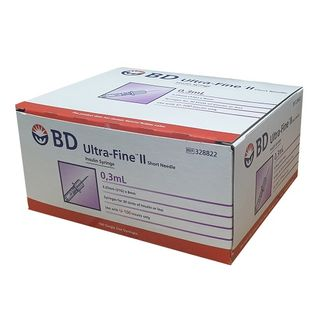 BD Insulin Syringe 0.3mL 31G x 8mm - Box (100)