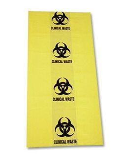Aerohazard Clinical Waste Bag 10L (350mm x 470mm) - Pack (100)