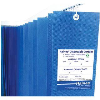 Disposable Blue Curtains 2.5m x 2m drop - Box (15)