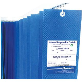 Disposable Curtain 7.5m x 2m - Blue - each