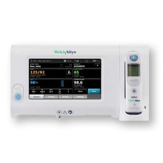 Welch Allyn Connex Spot Monitor with SureBP NIBP/Nonin SpO2/PRO 6000 Ear Thermometer