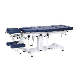 Fixed Height Chiropractic Table Navy Blue