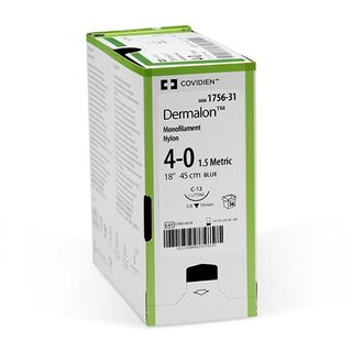 Dermalon Suture 6-0 12mm 45cm (Box 36)