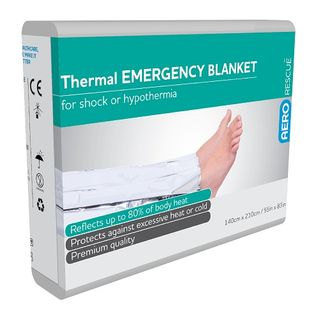 Aerorescue Emergency Thermal Blanket 140cm x 210cm - each