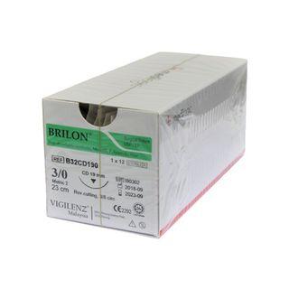 Vigilenz Brilon Biopsy Suture 4-0 19mm CD 23cm Box (12)