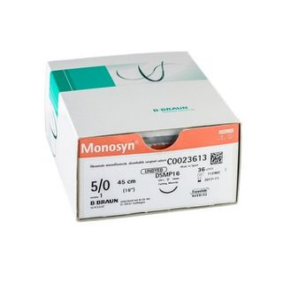 Monosyn 5/0 Suture Undyed 70cm DS16- Box (36)