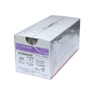 Vigilenz Ecosorb 4/0 19mm CD 45cm Violet Sutures - Box (12)