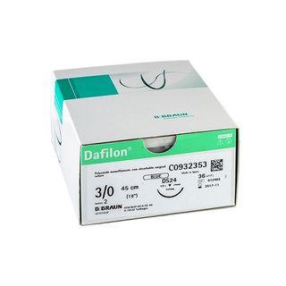 Dafilon 4/0 Suture Blue 45cm DS19  - Box (36)