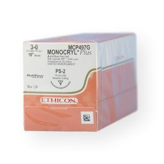 Monocryl Plus 3/0 PS-2 Undyed 45cm - Box (12)