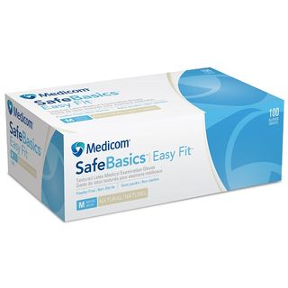 SafeBasics EasyFit N/S Latex PF Glove Extra Large - Box (100)