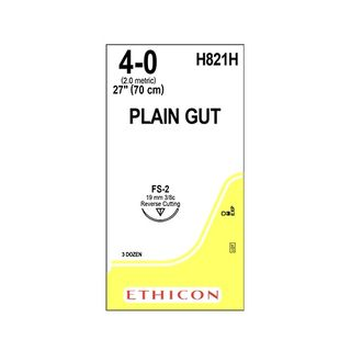 Plain Gut Suture 4/0 FS-2 19mm 70cm - Box (36)
