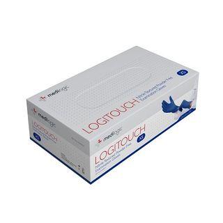 Logitouch Nitrile Blue P/F Examination Gloves - Large - (Carton 2000)