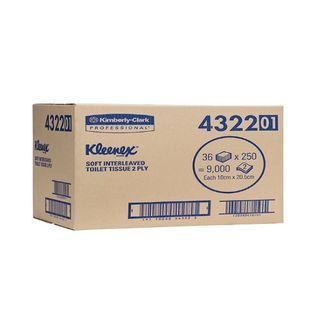 Kleenex® Soft Interleaved Toilet Tissue 250 sheets - Carton (36)