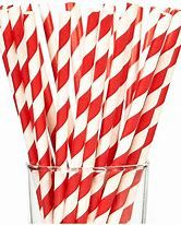 Straws Paper Red/White Reg