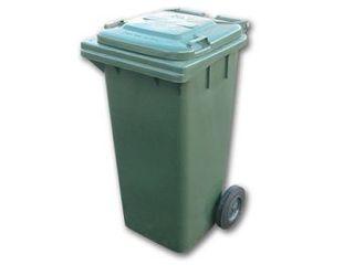 Wheelie Bin Green 120L Oates