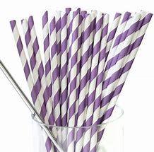 Straws Paper Purple/White Reg