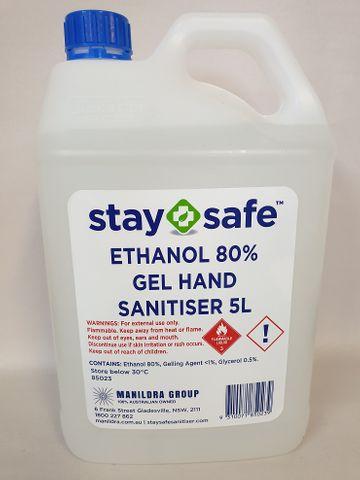 Stay Safe Sanitiser Gel 5L