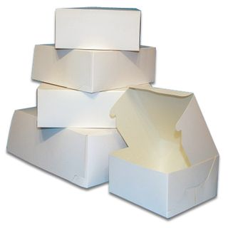 "Cake Box 8x8x2.5"" White Pk/100"