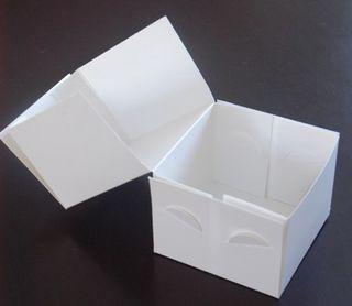 "Cake Box 4x4x3"" White Pk/100"