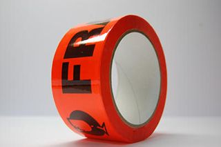 Tape Fragile Fluoro Orange