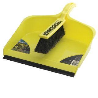 Brush/Dustpan Tradesman Yellow