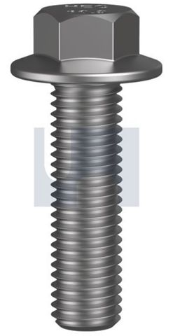 M6X30 Hex Flange Hex Set Screw CL8.8 Z/P