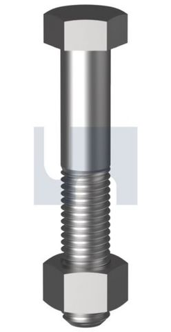 M10X150 Hex B/N CL 4.6 Gal