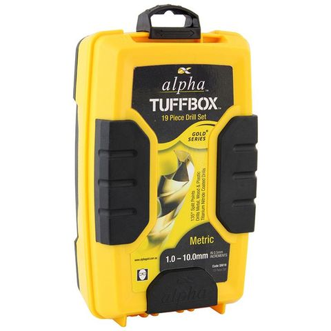 19pc Alpha Tuffbox Drill Set