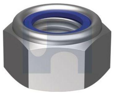 M10 Nyloc Nut CL6 Gal