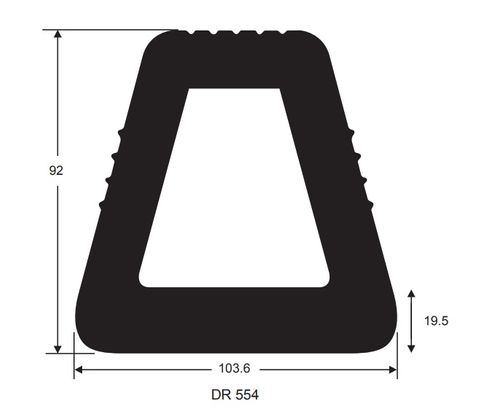 105X92 1m DOCKING RUBBER
