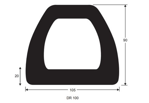 105X90 1m DOCKING RUBBER