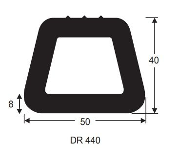 50X40 1m DOCKING RUBBER