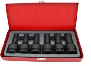 6PC 3/4D Imperial IN-HEX Socket Set